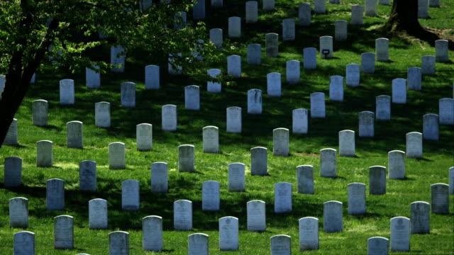 アーリントン国立墓地春に幅広のパン - アーリントン国立墓地点の映像素材/bロール
