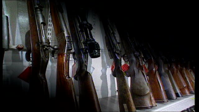 armalite rifles and other weapons used by loyalist terrorists - loyalty stock videos & royalty-free footage