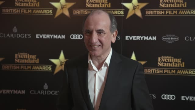 vídeos y material grabado en eventos de stock de armando iannucci at evening standard british film awards at claridge's hotel on february 8 2018 in london england - armando iannucci