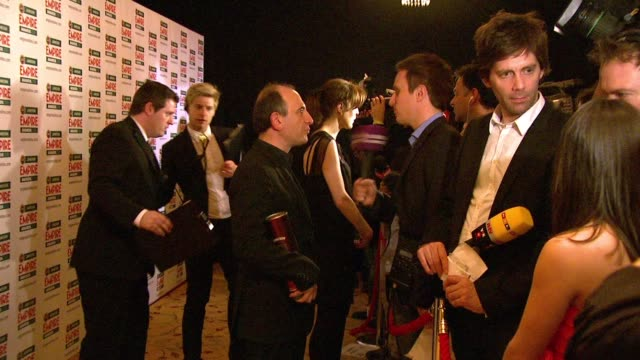 vídeos y material grabado en eventos de stock de armando iannucci at the jameson empire awards at london england - armando iannucci