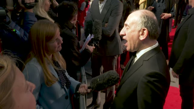 armando iannucci at 'the personal history of david copperfield' opening night gala - 63rd bfi london film festival at odeon luxe leicester square on... - アーマンド・イアヌッチ点の映像素材/bロール