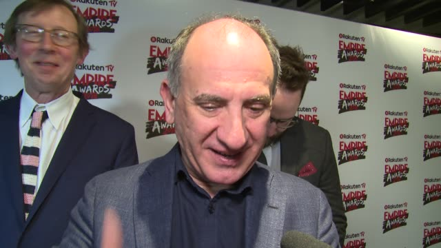 vídeos y material grabado en eventos de stock de armando iannucci on fan reaction winning awards keeping it fresh and alan partridge at the roundhouse on march 18 2018 in london england - armando iannucci