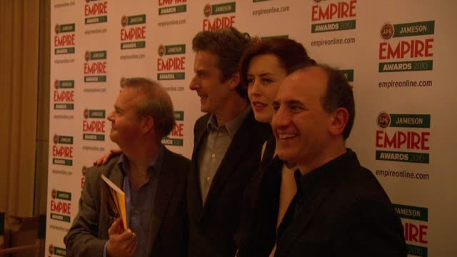 armando iannucci, peter capaldi, ian hislop at the jameson empire awards at london england. - ian hislop stock videos & royalty-free footage