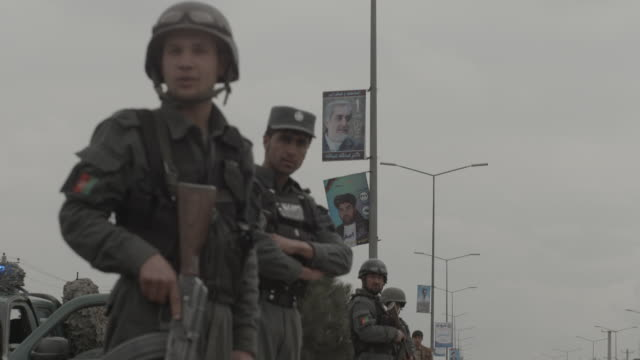 armed police force standing by - poster stock videos & royalty-free footage