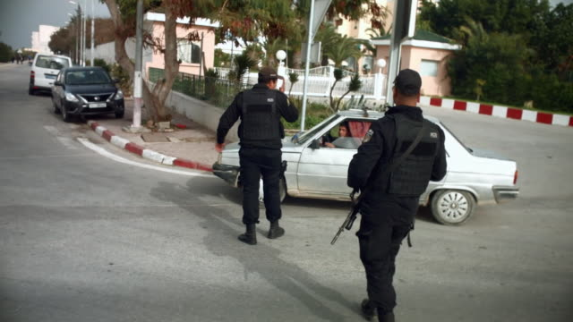 Armed police in Sousse Tunisia where security was stepped up after the hotel massacre in 2015