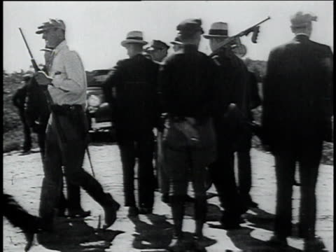 armed police officers creating a road block / ohio, united states - 1934 stock videos & royalty-free footage