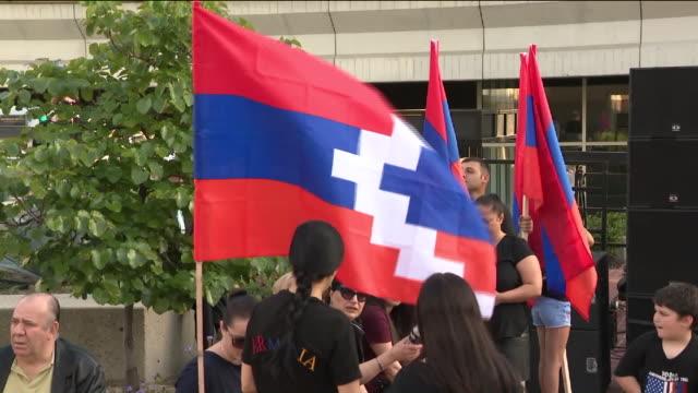 vídeos de stock e filmes b-roll de armenian genocide candelight vigil. - cultura da europa de leste