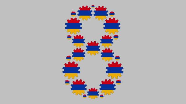 vidéos et rushes de numéro arménien huit - chiffre 8