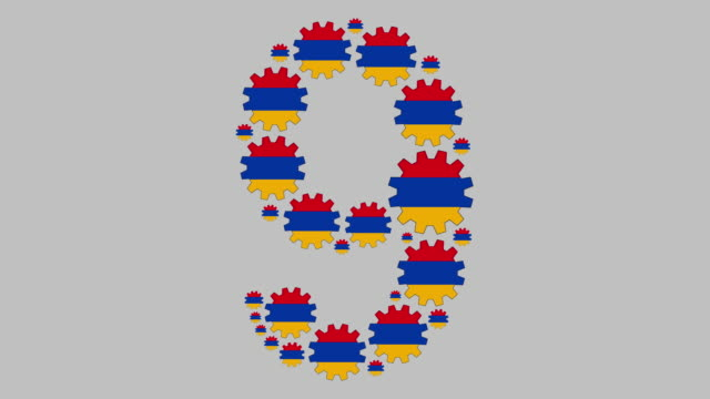 armenian number nine - numero 9 video stock e b–roll