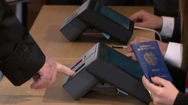 Armenian President Serzh Sarkisian casts his ballot at a poling station in Yerevan on April 02 during parliamentary elections Armenians started...