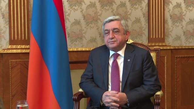 Armenia's President Serzh Sarkisian urges international powers to step up pressure on Azerbaijan to avoid all out war over the disputed Nagorny...