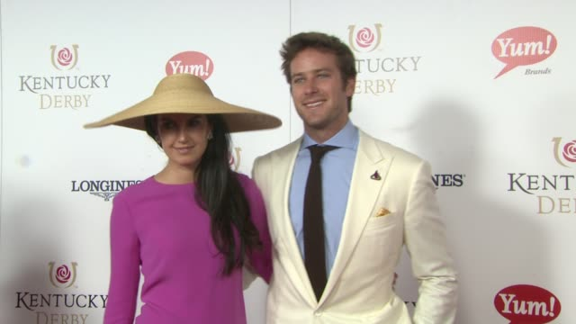 armie hammer and elizabeth chambers at moet chandon toasts the 139th kentucky derby at churchill downs on may 04 2013 in louisville kentucky - armie hammer stock videos & royalty-free footage