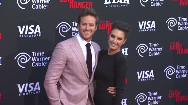 armie hammer and elizabeth chambers at the lone ranger los angeles premiere armie hammer and elizabeth chambers at the lone r at disney california... - armie hammer stock videos & royalty-free footage