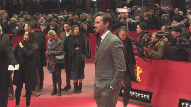 'final portrait' red carpet at berlinale palast on february 11 2017 in berlin germany - armie hammer stock videos & royalty-free footage
