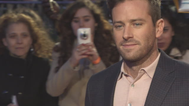 armie hammer at 'call me by your name' uk premiere 61st bfi london film festival at odeon leicester square on october 09 2017 in london england - call me by your name stock videos & royalty-free footage