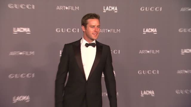 armie hammer at lacma hosts 2012 art film gala honoring ed ruscha and stanley kubrick presented by gucci on 10/26/12 in los angeles ca - armie hammer stock videos & royalty-free footage