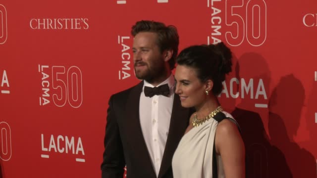armie hammer at lacma's 50th anniversary gala at lacma on april 18 2015 in los angeles california - armie hammer stock videos & royalty-free footage