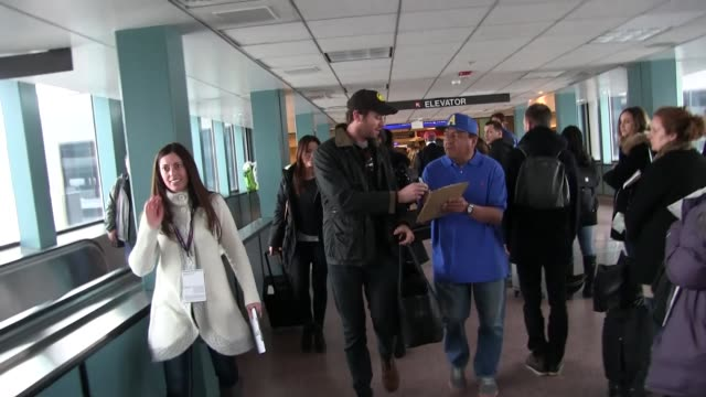 armie hammer at salt lake city airport for the sundance film festival in celebrity sightings in park city ut - sundance film festival stock videos & royalty-free footage