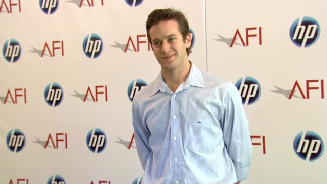 armie hammer at the 2010 afi awards at los angeles ca - armie hammer stock videos & royalty-free footage