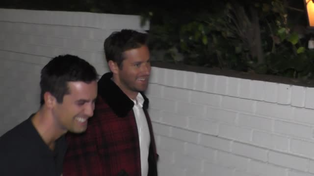 armie hammer at the 2017 gq men of the year dinner party at chateau marmont in west hollywood in celebrity sightings in los angeles - armie hammer stock videos & royalty-free footage