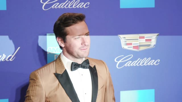 armie hammer at the 29th annual palm springs international film festival awards gala at palm springs convention center on january 02 2018 in palm... - armie hammer stock videos & royalty-free footage