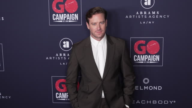 armie hammer at the go campaign 13th annual go gala at neuehouse hollywood on november 16 2019 in los angeles california - armie hammer stock videos & royalty-free footage