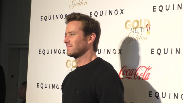 armie hammer at the gold meets golden benefit at equinox sports club west la on january 07 2017 in los angeles california - armie hammer stock videos & royalty-free footage