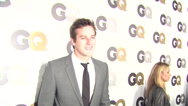 armie hammer at the gq's 'men of the year' party at los angeles ca - armie hammer stock videos & royalty-free footage