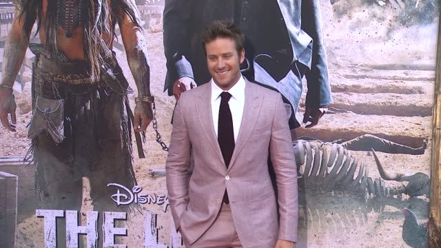 armie hammer at the lone ranger los angeles premiere armie hammer at the lone ranger los angeles prem at disney california adventure park on june 22... - armie hammer stock videos & royalty-free footage