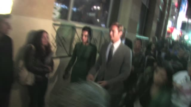 armie hammer elizabeth chambers arrive at j edgar after party in hollywood - armie hammer stock videos & royalty-free footage