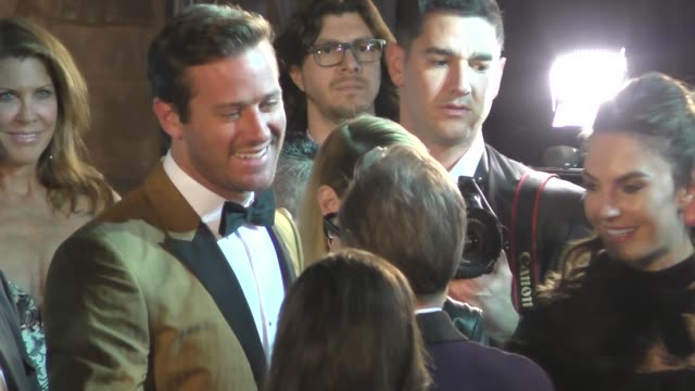 armie hammer elizabeth chambers sam rockwell arrive at the 29th palm springs international film festival at palm springs convention center in palm... - armie hammer stock videos & royalty-free footage