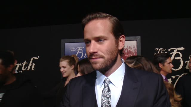INTERVIEW Armie Hammer on how proud he is to be a part of the film talks about the most challenging part of filming Nate Parker's commitment to the...