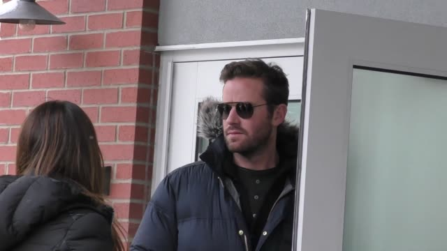 armie hammer on main street at the sundance film festival in celebrity sightings in park city ut - sundance film festival stock videos & royalty-free footage