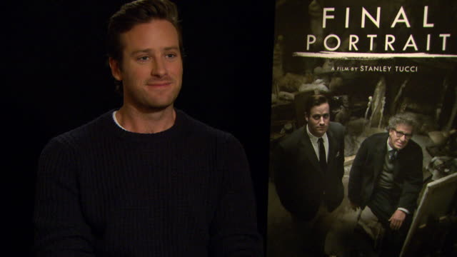INTERVIEW Armie Hammer on rugby at Berlin Film Festival 'Final Portrait' Interviews at Berlinale Palast on February 11 2017 in Berlin Germany