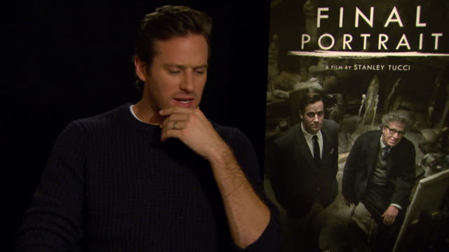 INTERVIEW Armie Hammer on shooting in London at Berlin Film Festival 'Final Portrait' Interviews at Berlinale Palast on February 11 2017 in Berlin...