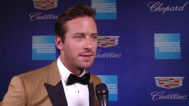 Armie Hammer on the Palm Springs Film Festival and Timothée Chalamet at the 29th Annual Palm Springs International Film Festival Awards Gala at Palm...