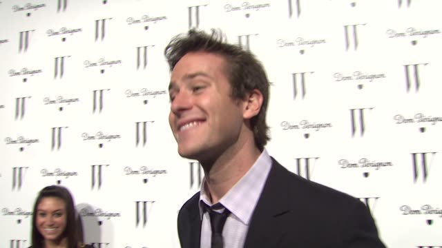 armie hammer on the social network's critic's choice win at the w magazine celebrates the best performances issue and the golden globe awards at los... - critic stock videos & royalty-free footage