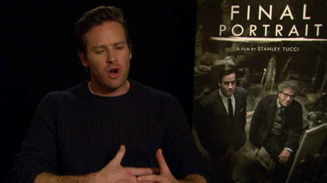 interview armie hammer on working with stanley tucci at berlin film festival 'final portrait' interviews at berlinale palast on february 11 2017 in... - armie hammer stock videos & royalty-free footage
