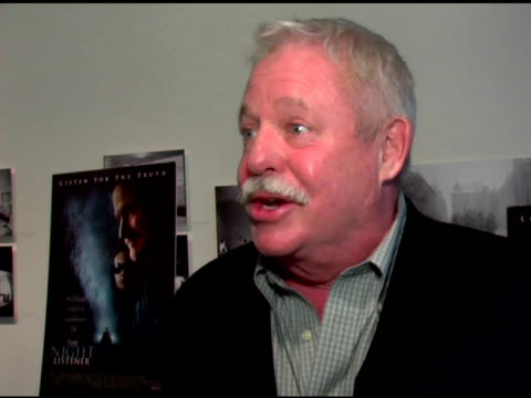 armistead maupin/ screenwriter he talks about 'the night listener' being based on a real life mystery-'the oddest thing that ever happened' to him he... - toni collette stock videos & royalty-free footage