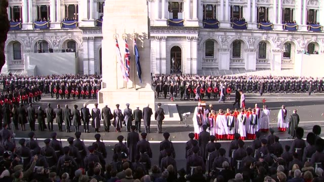Cenotaph main feed ENGLAND London Whitehall Prince Charles Prince of Wales arrives with FrankWalter Steinmeier / Jeremy Corbyn and Theresa May stood...