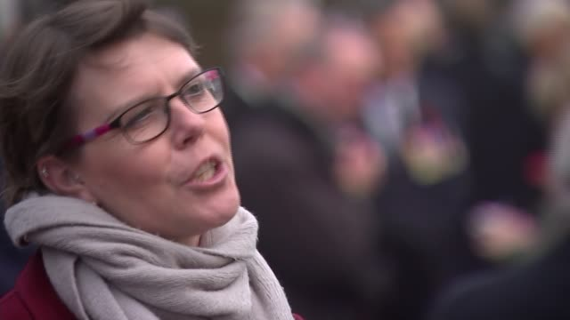 WWI Centenary marked at services at Cenotaph and across world ENGLAND London The Mall Mary Jenkinson interview SOT Wide shot crowd Alison McClure...