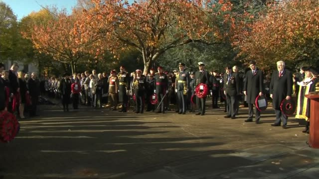 WWI Centenary marked at services at Cenotaph and across world WALES Cardiff People observing minute's silence