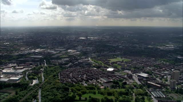 armley mills, leeds  - aerial view - england, leeds, united kingdom - leeds stock videos & royalty-free footage