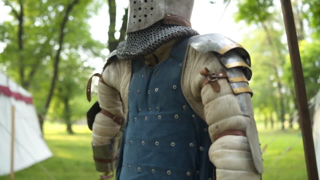 armor suit costume - the crusades stock videos & royalty-free footage