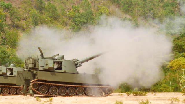 armored tank shooting - artillery stock videos & royalty-free footage