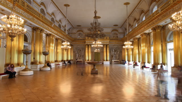 armorial hall hl - st. petersburg russia stock videos & royalty-free footage