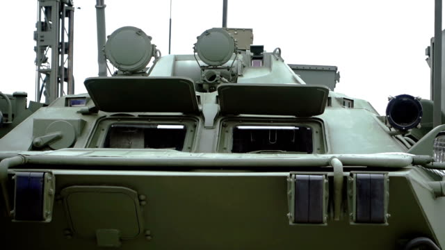 armoured personnel carrier - front view - armoured personnel carrier stock videos & royalty-free footage