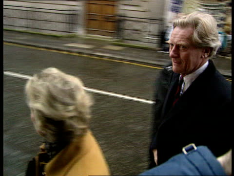 case dropped LIB London Michael Heseltine MP along with wife and into bldg