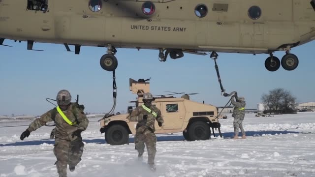 us army 101st airborne division participate in air assault training exercise involving chinook helicopter - black hawk helicopter stock videos and b-roll footage
