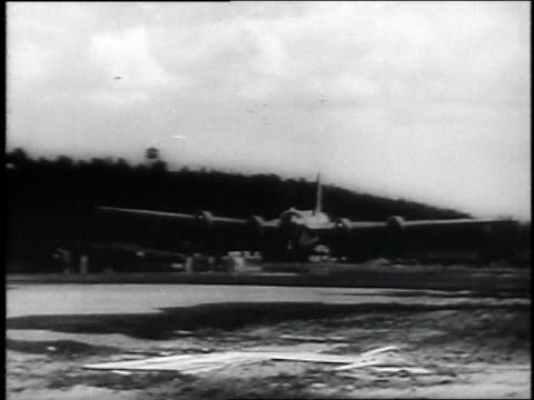 army air corps b29 bomber lands on runway / china - 1946 stock videos and b-roll footage